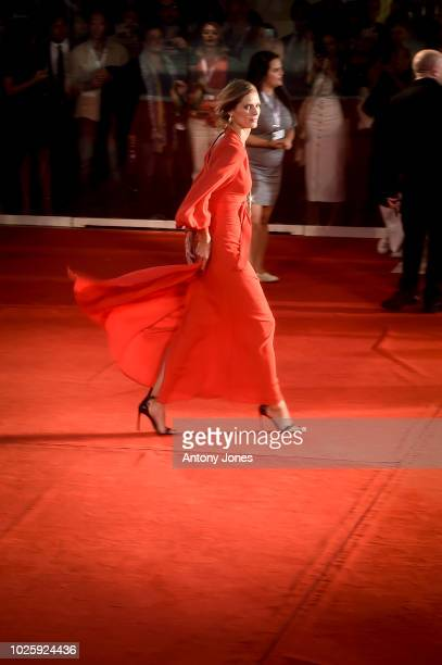 Malgosia Bela walks the red carpet ahead of the 'Suspiria' screening during the 75th Venice Film Festival at Sala Grande on September 1 2018 in...