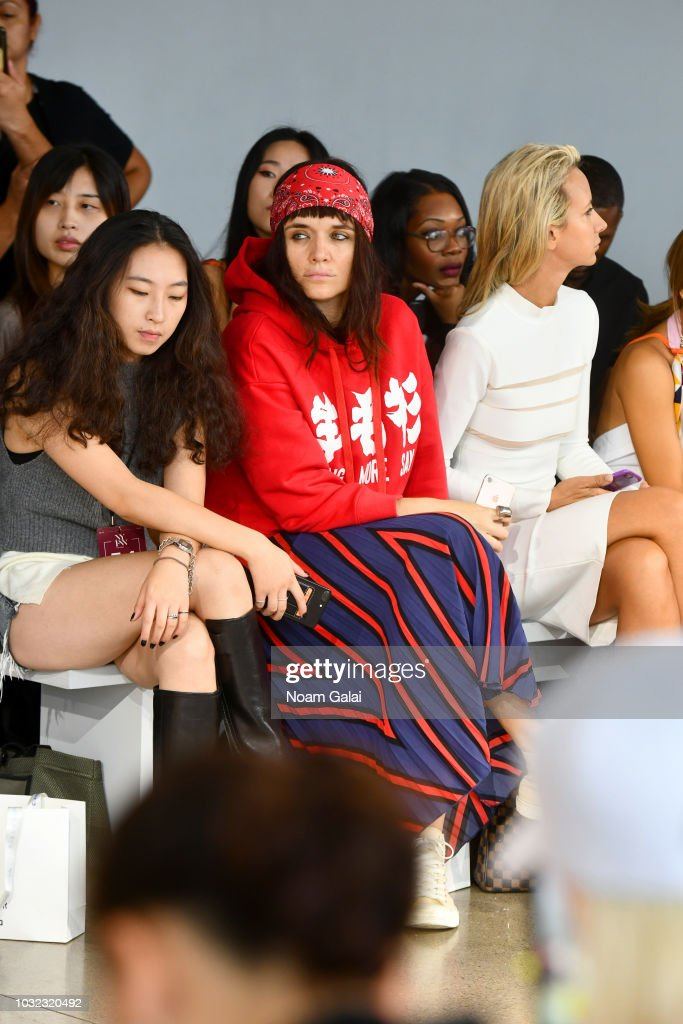 Malgosia Garnys attends the Semir X CJ Yao front Row during New York Fashion Week: The Shows at Gallery II at Spring Studios on September 12, 2018 in New York City.