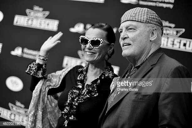 Malgosia Tomassi and actor Stacy Keach attend World Premiere Of Disney's Planes Fire Rescue at the El Capitan Theatre on July 15 2014 in Hollywood...