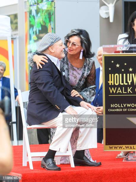 Malgosia Tomassi and Stacey Keach are seen at Stacey Keach Hollywood Walk of Fame Star Ceremony on July 31 2019 in Los Angeles California