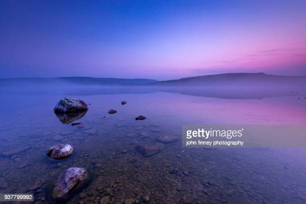 malham tarn sunrise. yorkshire dales. uk. - reflecting pool stock pictures, royalty-free photos & images