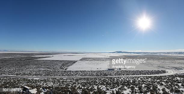 Malheur National Wildlife refuge area is seen on the seventh day of the occupation of the federal building in Burns Oregon on January 8 2016 An armed...
