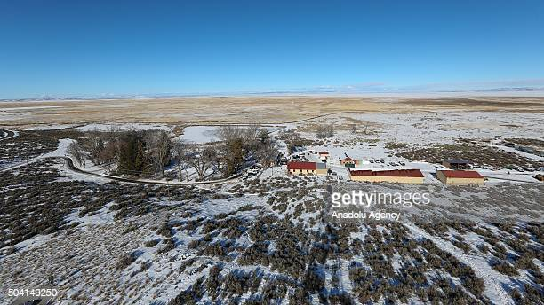 Malheur National Wildlife refuge is seen on the seventh day of the occupation of the federal building in Burns Oregon on January 8 2016 An armed...