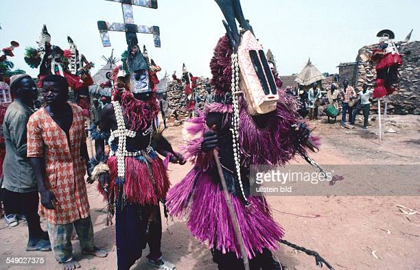 All masks belong to the AWA society and appear at the Dama or funeral ceremony these are held every 2 years in honor of one deceased elders The masks...