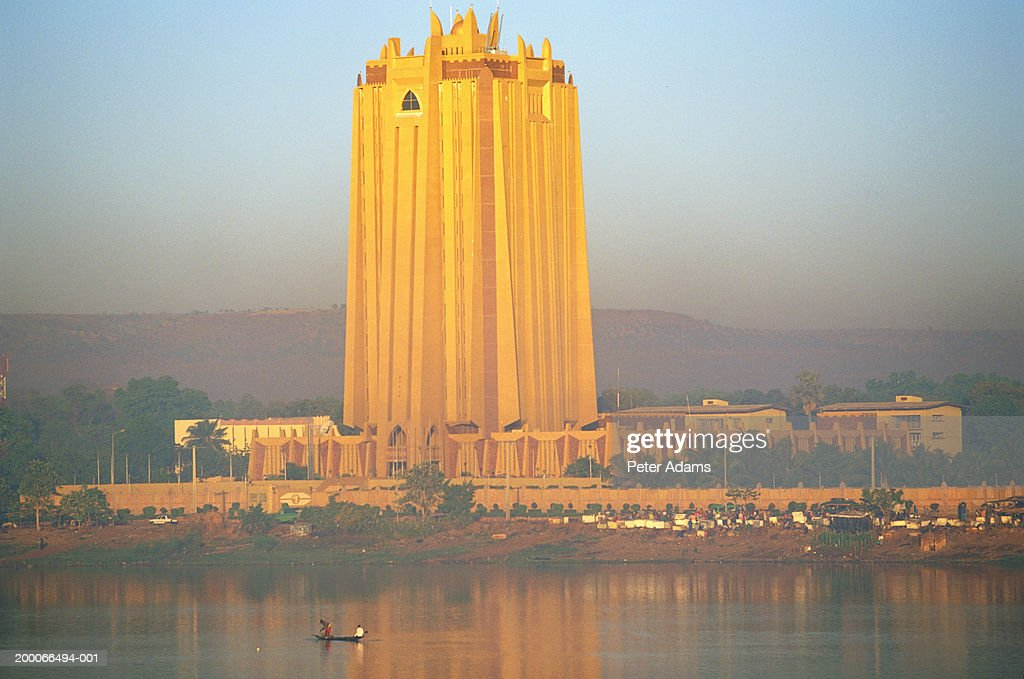 Mali, Bamako, Bank of Africa (BCEAO) building : Stock Photo