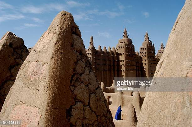 Great Mosque of Djenné the largest mud brick or adobe building in the world