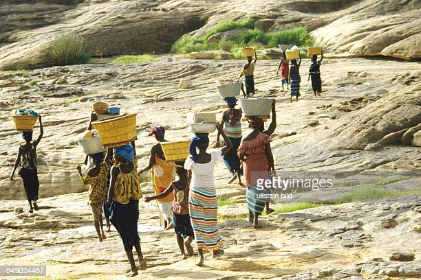 Dogon women going to the market