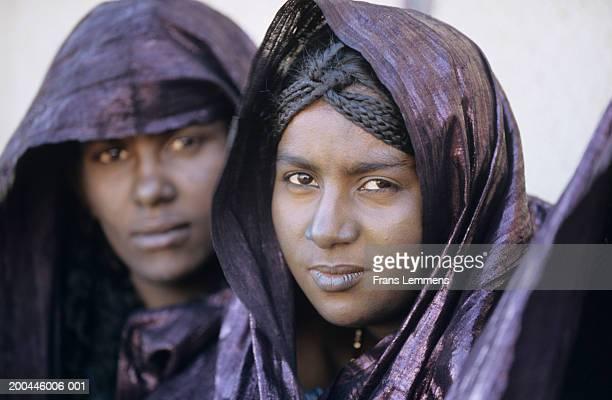 Mali, Gao Region, Tuareg tribeswomen, portrait