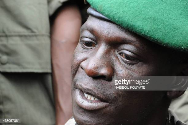 Mali junta leader Captain Amadou Sanogo speaks at the Kati Military camp in a suburb of Bamako on March 22 2012 Coup leaders in Mali Today ordered...
