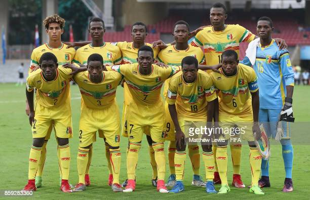 Mali line up against Turkey during the FIFA U17 World Cup India 2017 group B match between Turkey and Mali at Dr DY Patil Cricket Stadium on October...