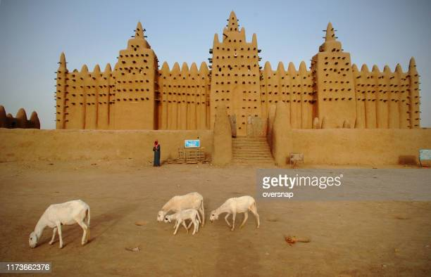 mali mud mosque - grand mosque stock pictures, royalty-free photos & images