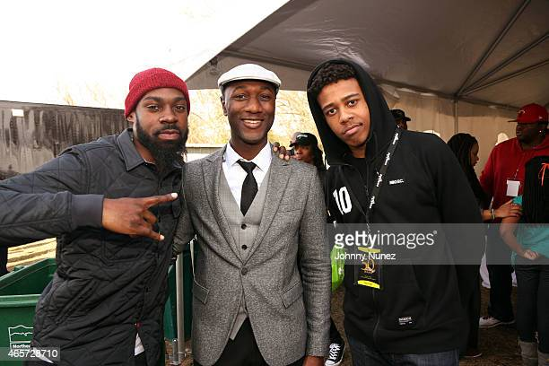 Mali Music Aloe Blacc and Lightshow attend the Centric Celebrates Selma event on March 8 2015 in Selma Alabama