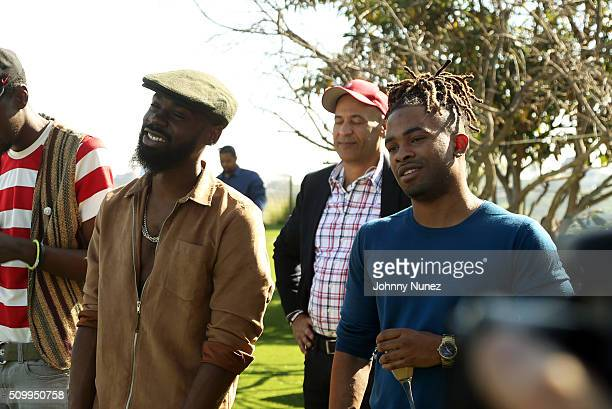 Mali Music and Elijah Blake attend the Artium Grammy Brunch at Private Residence on February 12 2016 in Los Angeles California