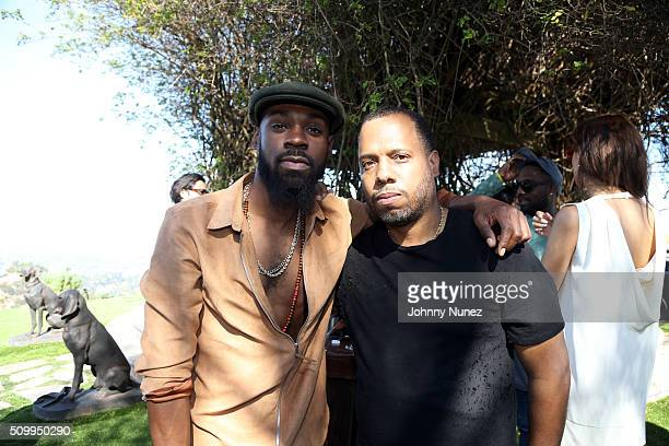 Mali Music and No ID attend the Artium Grammy Brunch at Private Residence on February 12 2016 in Los Angeles California