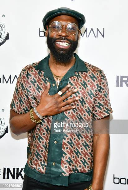 Mali Music attends Iron Ink and boohooMAN VIP Event at Iron Ink on January 24 2020 in Los Angeles California