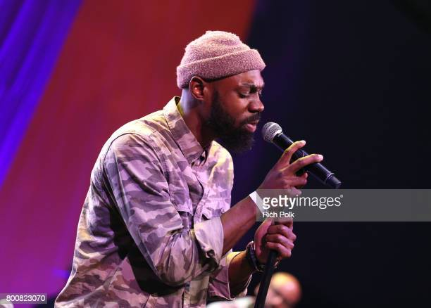 Mali Music performs onstage during a Celebration of Gospel Live sponsored by Nissan at the BETX main stage during the 2017 BET Experience at Los...
