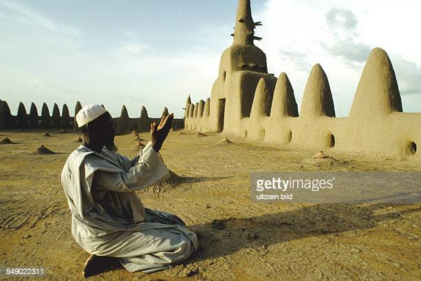 Muslim Prayer in the Grand mosque of Djenne