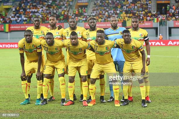 Mali National team players pose for a photograph during the African Cup of Nations 2017 Group D football match between Egypt and Mali in PortGentil...