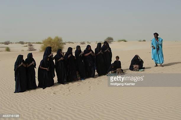 Mali Near Timbuktu Sahara Desert Tuareg People Performing Traditional Dance In Desert