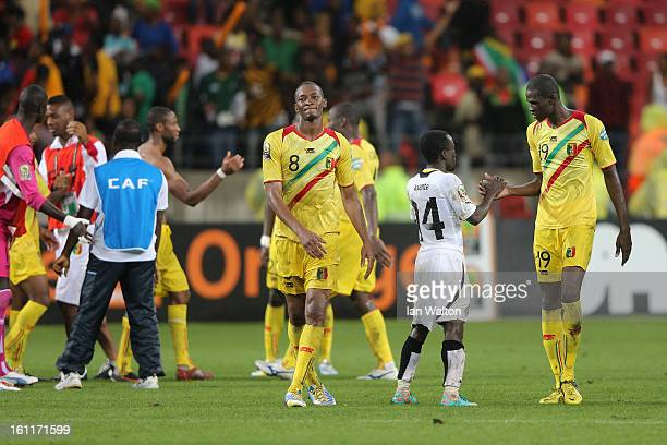 Mali players celebrates after winning the 2013 Africa Cup of Nations Third Place PlayOff match between Mali and Ghana on February 9 2013 in Port...