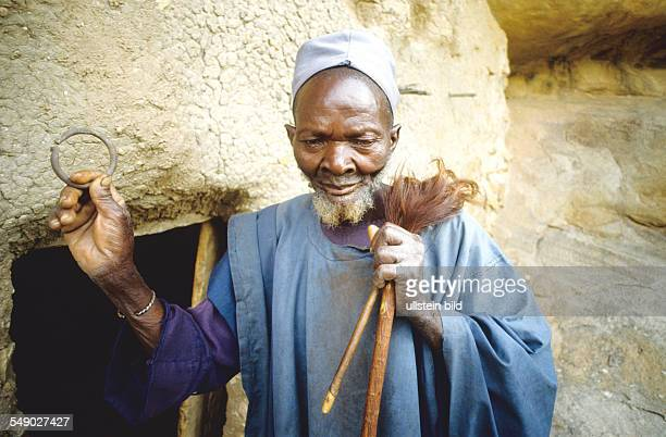 The 82yearold Hogon Barokomo who guards the closed cave of the ancestor Damada Ketubile in Mori Mali He is the last person who still follows the old...