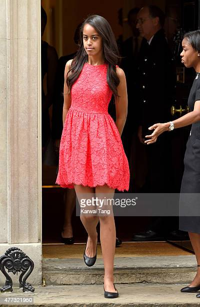 Malia Ann Obama departs after her visit of 10 Downing Street on June 16 2015 in London England