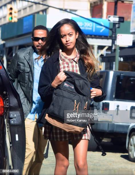 Malia Ann Obama seen out in Manhattan on April 18, 2017 in New York City.