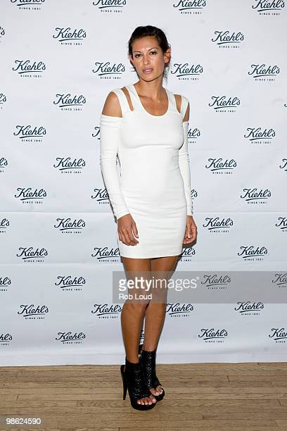 Malia Jones attends the unveiling of Limited Edition Kiehl's Acai DamageProtecting Toning Mists to benefit the Rainforest Alliance at the Kiehl's...