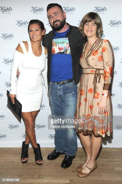 Malia Jones Chris Salgardo and Tensie Whelan attend KIEHL'S Party to Celebrate EARTH DAY at Kiehl's on April 22 2010 in New York City