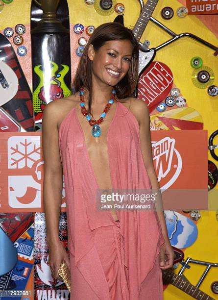 Malia Jones during ESPN Action Sports and Music Awards Pressroom at The Universal Ampitheatre in Universal City California United States