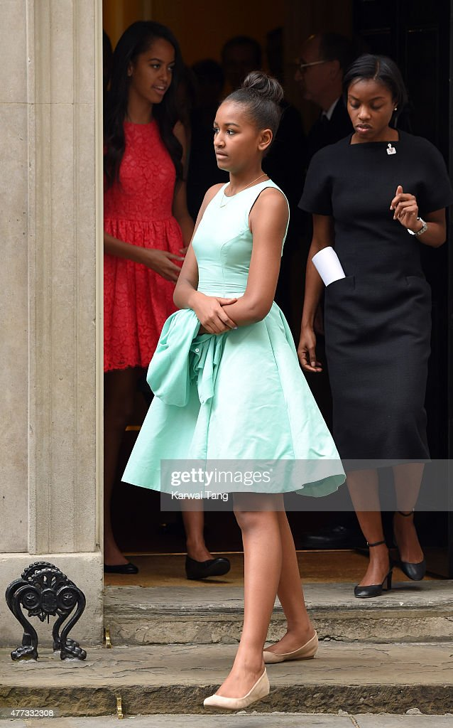 Michelle Obama Visits Downing Street : News Photo