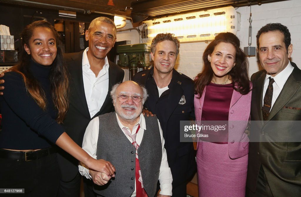 President Obama And Malia Visit Broadway