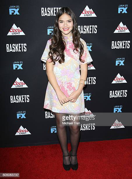 Malia Pyles arrives at Los Angeles premiere of FX's Baskets held at Pacific Design Center on January 14 2016 in West Hollywood California