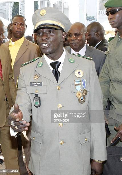 Malian captain Amadou Haya Sanogo head of the coup forces that overthrew Malian President Amadou Toumani Toure in 2012 arrives for an official...