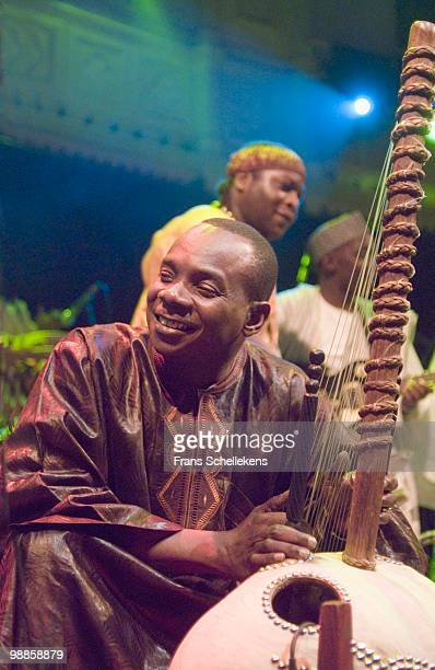 Malian Cora player Toumani Diabate performs live on stage at Paradiso in Amsterdam, Netherlands on October 27 2006