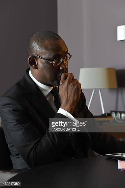 Malian Foreign Minister Abdoulaye Diop speaks with an AFP journalist on July 16 2014 during an interview in the Algerian capital Algiers The Bamako...