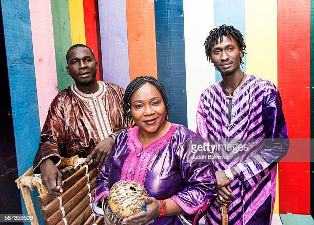 Malian group Trio Da Kali consisting of Lassana Diabaté on the balafon singer Hawa Kasse Mady Diabaté and ngoni player Mamadou Kouyaté