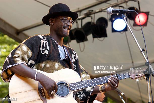 Malian guitar player Afel Bocoum performs at Africa Festival on June 29th 2003 in Hertme, the Netherlands.