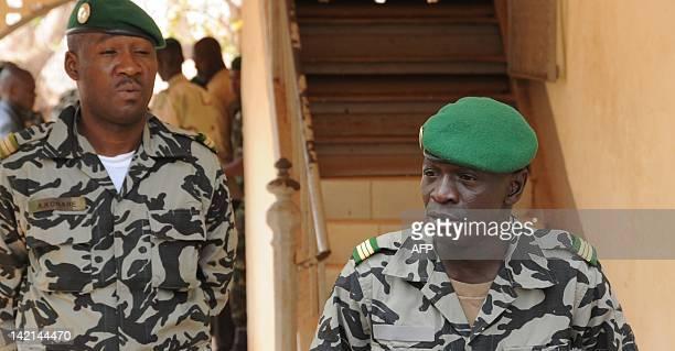 Malian junta leader Amadou Sanogo speaks in Kati near Bamako on March 30 2012 Mali's embattled coup leader Captain Amadou Sanogo on Friday asked for...