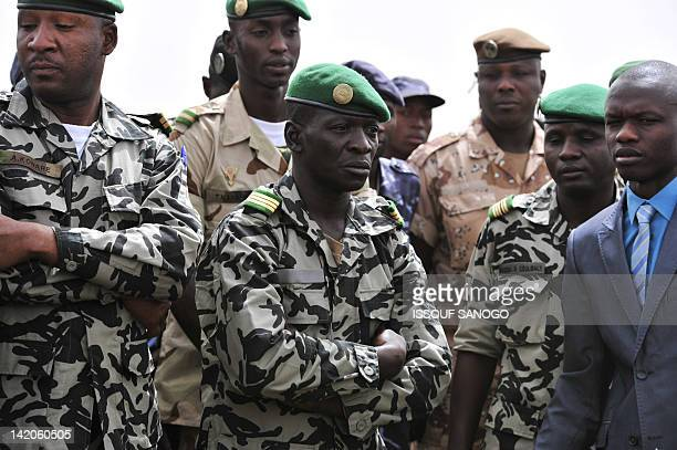 Malian military junta leader Amadou Sanogo arrives at Bamako airport on March 29 2012 A bid by west African leaders to seek a return to democratic...