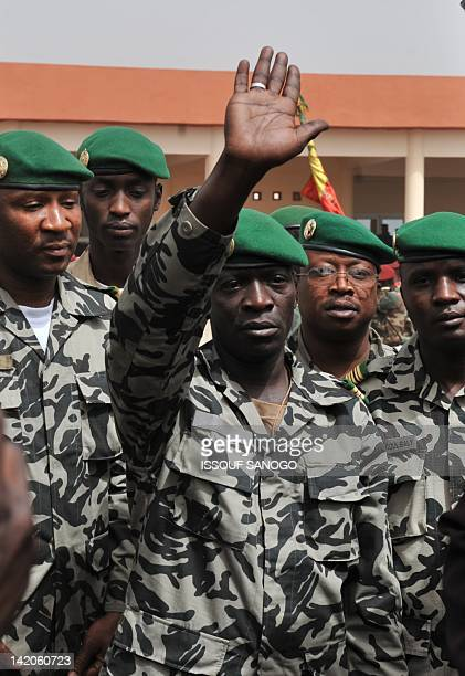 Malian military junta leader Amadou Sanogo arrives at Bamako airport on March 29 2012 in Bamako A bid by west African leaders to seek a return to...
