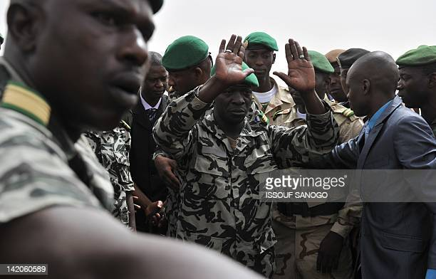 Malian military junta leader Amadou Sanogo arrives on March 29 2012 at Bamako airport A bid by west African leaders to seek a return to democratic...