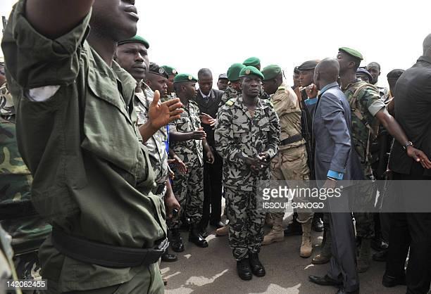 Malian military junta leader Amadou Sanogo arrivse at Bamako airport on March 29 2012 in Bamako A bid by west African leaders to seek a return to...