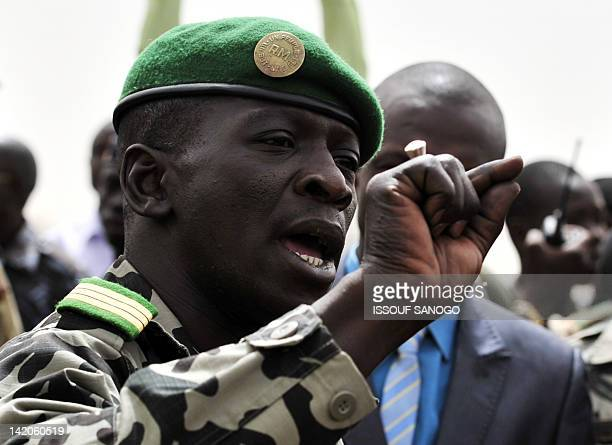 Malian military junta leader Amadou Sanogo speaks on March 29 2012 to supporters at Bamako airport A bid by west African leaders to seek a return to...