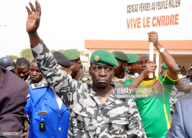 Malian military junta leader Amadou Sanogo waves as he arrives on March 29 2012 at Bamako airport A bid by west African leaders to seek a return to...