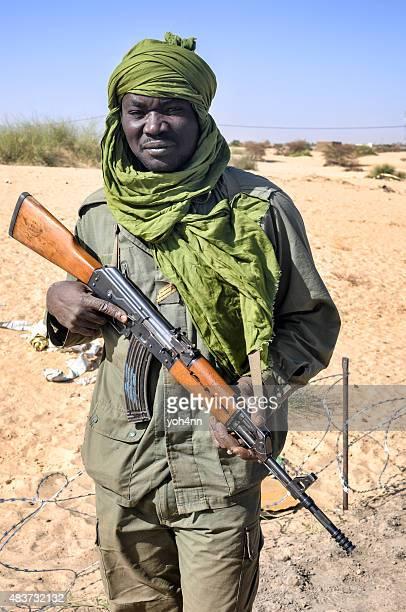 Malian military soldier