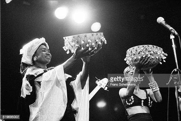 Malian singer Oumou Sangare, performs on October 9th 1991 at the Melkweg in Amsterdam, Netherlands. ,