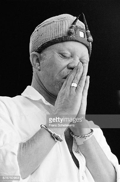 Malian singer Salif Keita performs at Parkpop on June 25th 1995 in the Hague, Netherlands.