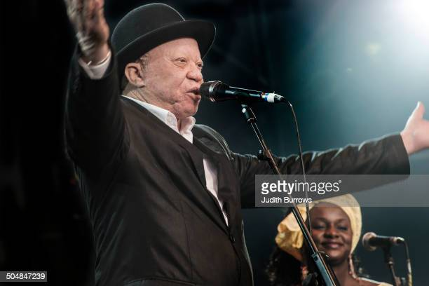 Malian singersongwriter Salif Keita performing with Les Ambassadeurs at the WOMAD Festival at Charlton Park Wiltshire 27th July 2014