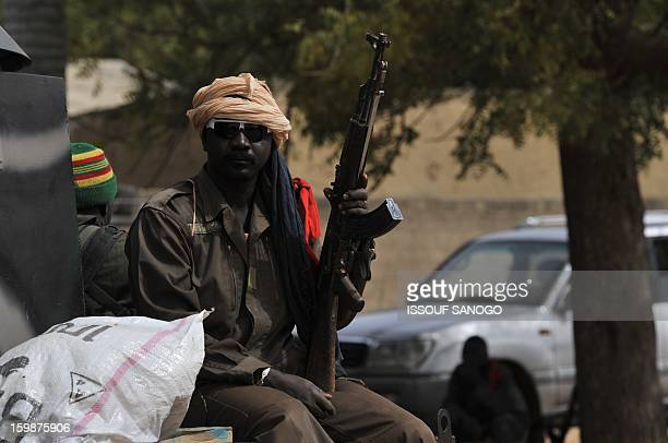Malian soldiers patrol in Diabaly on January 22 2013 The EU executive today announced 20 million euros of extra humanitarian aid to help tens of...